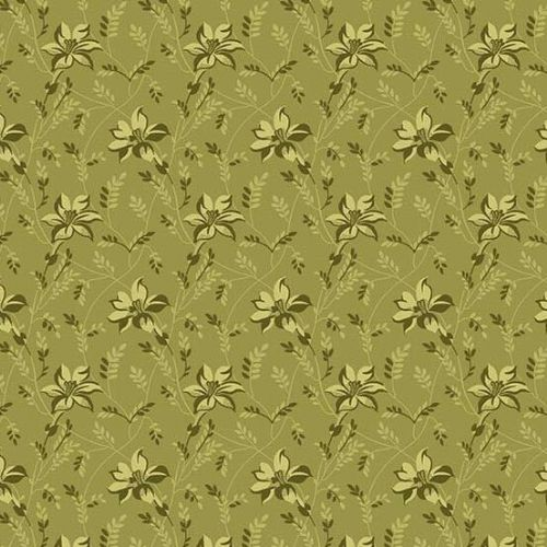 Andover SEQUOIA, Buds and Vines Green 8753G, 100% Cotton Patchwork Quilting